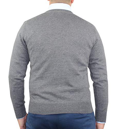 D'hiver Et Soie 1stamerican Pullover Jumper Ras Gris Homme Du Pour Cashmere Col Longues Cou Cachemire Tricot Manches SPrSqnw