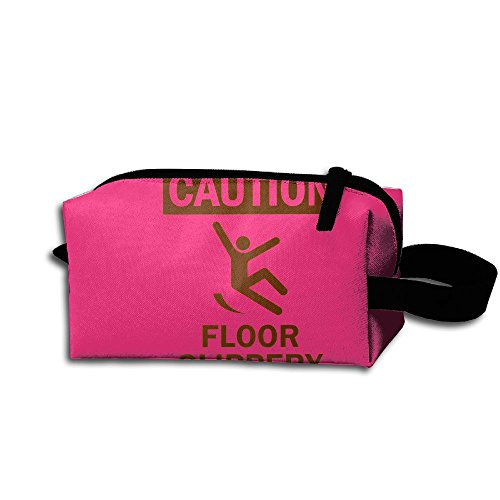 Makeup Cosmetic Bag Slippery When Wet Funny Zip Travel Portable Storage Pouch For Men -