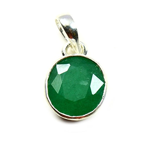 Silver Oval Pendant Sterling Emerald - Jewelryonclick Emerald Pendant Charm 7 Carat Natural Oval Gemstone 92.5 Sterling Silver
