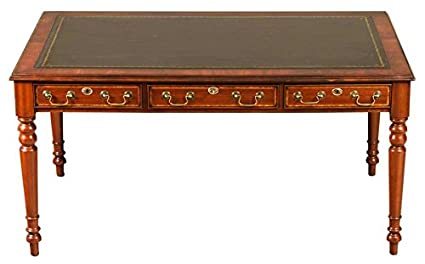 Antique Style Mahogany Writing Desk W Leather Top - Amazon.com : Antique Style Mahogany Writing Desk W Leather Top