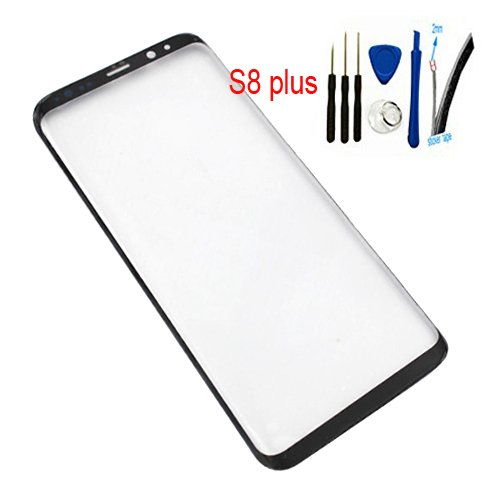"6.2"" Real Glass Front Screen Outer Lens replacement For Galaxy S8 Plus &S8+ SM-G955 G955A G955FD G955U G955F All Carriers 100% Glass (Not LCD &Not digitizer) Black"