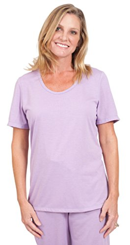 Cool-jams Wicking Sleepwear for Women �?Mix and Match Scoop T-Shirt Violet
