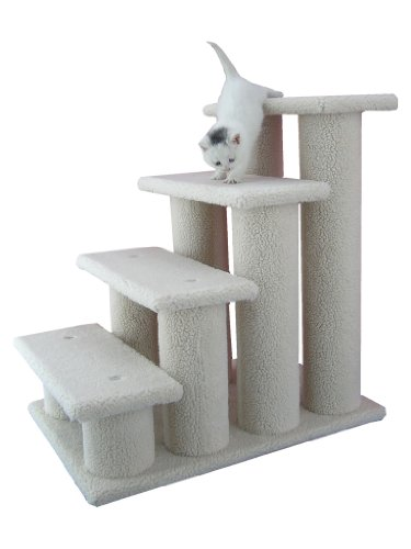 Armarkat Pet Steps, 4-steps, B4001, Ivory (Stairs Pet)