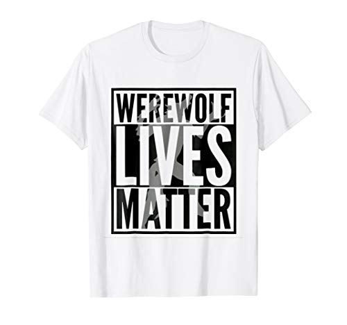 Mens Funny Halloween Costume Ideas 2018 Werewolf Shirt Medium White