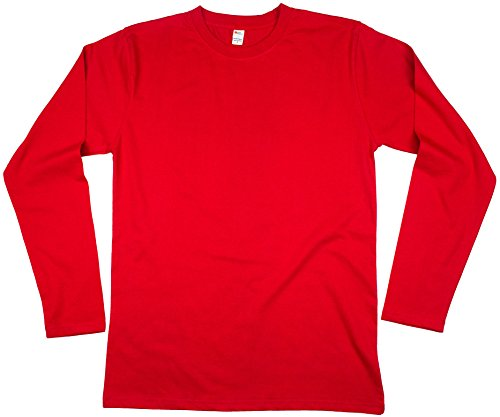 Earth Elements Men's Long Sleeve T-Shirt Medium Red