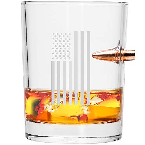 .308 Real Bullet Hand-made Whiskey Glass – Draped ()