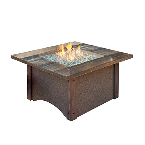 UPC 811560015942, Outdoor Greatroom Pine Ridge Chat Height Fire Pit Table with Brown SS Burner