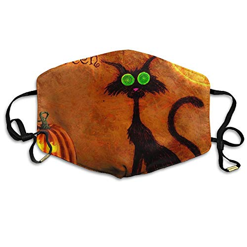VBTY Halloween Cat Moon Bat Printed Mouth Masks Unisex Anti-dust Masks Reusable Face -