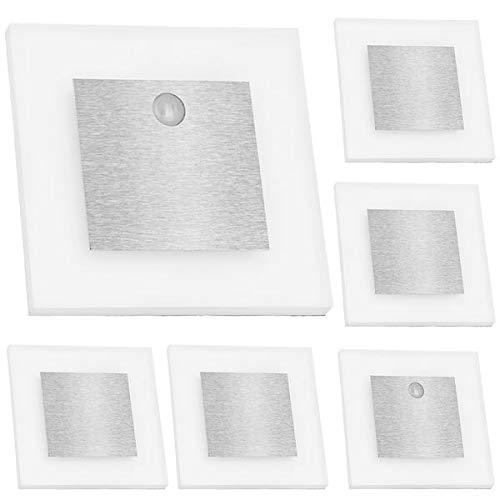 LEDANDO Set LED Treppenbeleuchtung inklusive Zwei Einheiten mit Bewegungsmelder und 15W Trafo, Set 6er Set inkl. 2 x Sensor