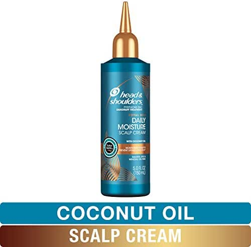 Head and Shoulders Scalp Cream Treatment, Daily Moisture, Anti Dandruff, Royal Oils Collection with Coconut Oil, Scalp Care for Natural and Curly Hair, 5.0 fl oz