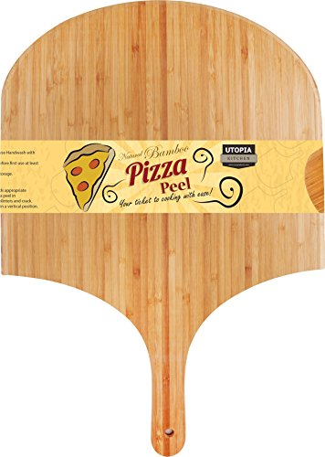 Bamboo Wood Pizza Peel, Paddle for Homemade P...
