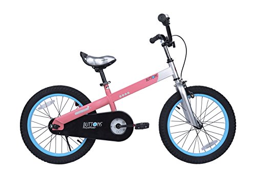 "RoyalBaby CubeTube Matte Buttons 12"" Bicycle for Kids, Pink"