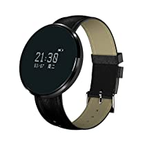 Hangang Bluetooth Smart Wrist Watch Fitness Tracker With Blood Pressure & Heart Rate Monitor Men Call Message Reminder Wearable Devices Compatible with all Android & IOS ,More ITEMS & Functional Fittness Tracker for Choice (CS12075-Black)