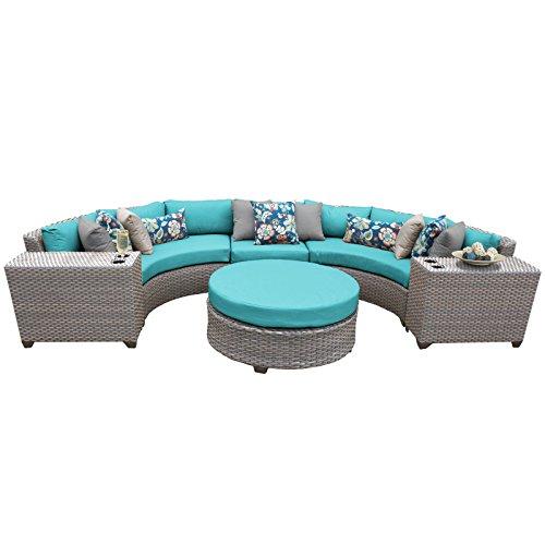 TK Classics FLORENCE-06c-ARUBA 6 Piece Outdoor Wicker Patio Furniture Set, Aruba