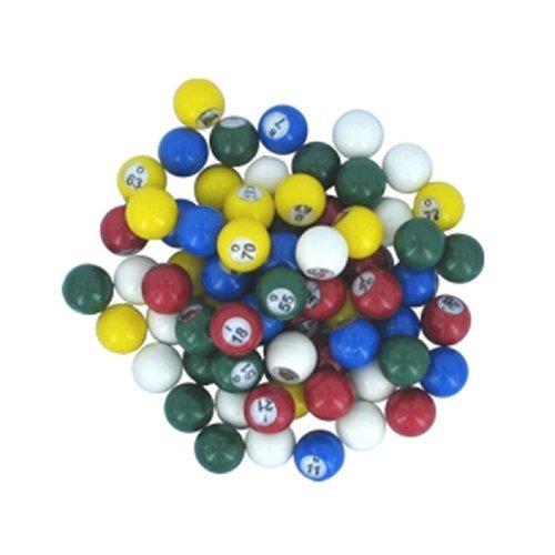 Multi-colored Plastic Bingo Balls by Hayes