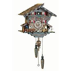 Quartz Cuckoo Clock Swiss house with music, incl. batteries