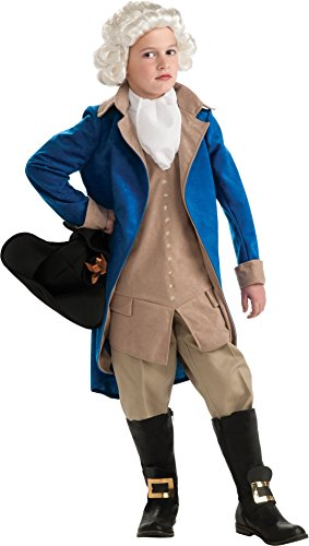 Rubie's Deluxe George Washington Costume – Large (Colonial Soldier Costume)