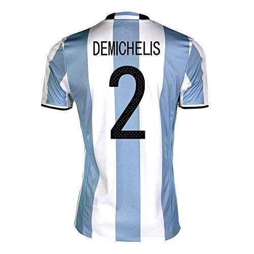 スペイン塊火山のDemichelis #2 Argentina Home Soccer Jersey Copa America Centenario 2016/サッカーユニフォーム アルゼンチン ホーム用 デミチェリス 背番号 2