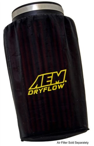 AEM Induction 1-4001 Dryflow Pre-Filter; 6 in. Base; 5.25 in. Top; 9 in. Tall; Silicone Treated Polyester;