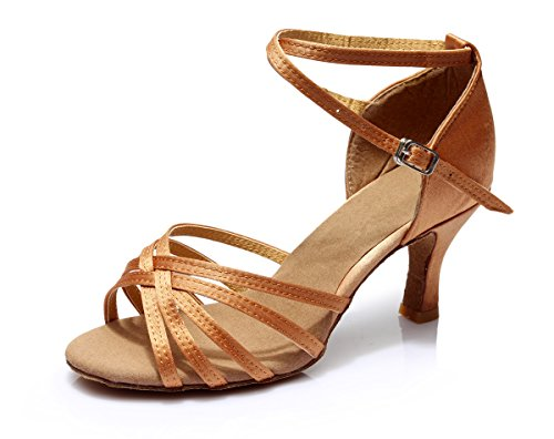 5cm Dunkelbraun Damen VESI Standard Absatz Schuhe Latein 7cm 36 HIWxOU