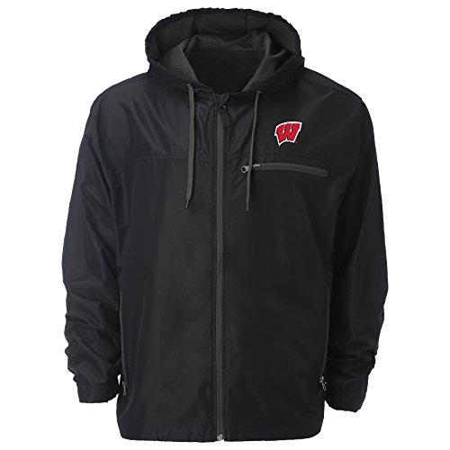 - Ouray Sportswear NCAA Wisconsin Badgers Men's Venture Windbreaker Jacket, Black, X-Large