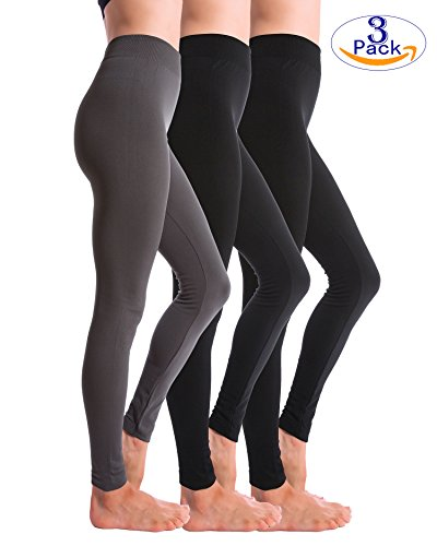 3-Pack+Fleece+Lined+Thick+Brushed+Leggings+by+Homma+%28XL-XXL%2C+BLACKx2%2FCH.GREY%29