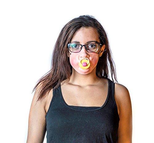 The Mask Biz™ Baby Teat Half Face Cute Head Head Mask Latex (Cute Halloween Masks)