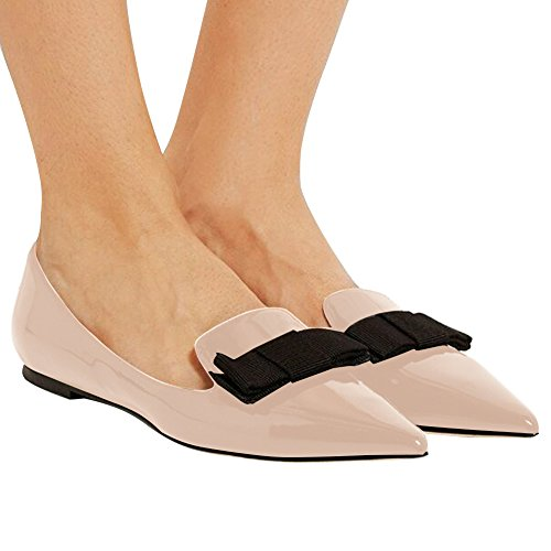Confort Plates Femme Plat Beige Chaussures Bout elashe Fermé Femme Ballerines Femmes 6wxaOqH