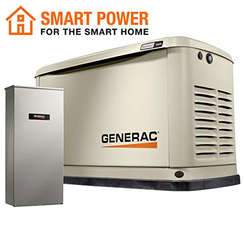 Generac 70371 Home Standby Generator Guardian Series 16/16kW Air-Cooled with Wi-Fi, 200SE, Aluminum