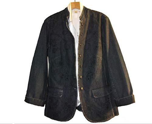 (Coldwater Creek Women's Embroidered Denim Jean Jacket Business Day Plus 18W 20W 22W (22W))