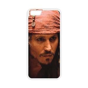 Generic Design Back Case Cover iPhone 6 4.7 Inch Cell Phone Case White aktery dzhonni depp johnny depp kino lyudi muzhchiny piraty karibskogo morya pirates of the caribbean Tecfc Plastic Cases