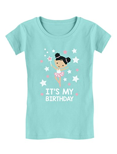 - TeeStars - It's My Birthday - Birthday Gift Toddler/Kids Girls' Fitted T-Shirt 4T Chill Blue