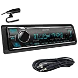 Kenwood KMM-BT325U Single Din Bluetooth SiriusXM Ready in-Dash Digital Media Car Stereo Receiver W/Spotify Control + Emb Aux 3.5mm Cable