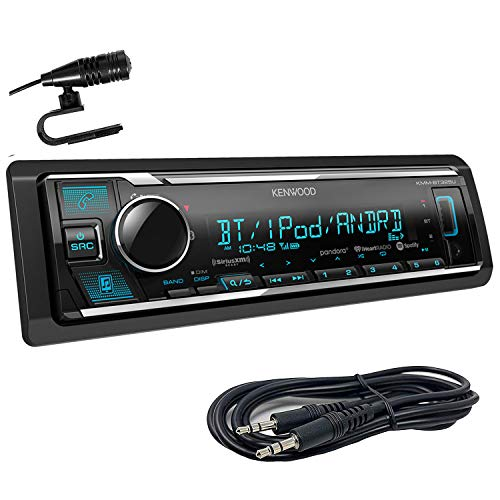 Kenwood KMM-BT325U Single Din Bluetooth SiriusXM Ready in-Dash Digital Media Car Stereo Receiver W/Spotify Control + Emb Aux 3.5mm Cable (Old Kenwood Car Stereo)