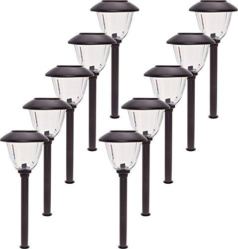 Stainless Steel Solar Lights 10 Pack