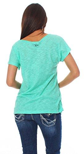 shirt Ras Vert T Du Col Anna Menthe Cou Uni Scott Femme qwazSxpE