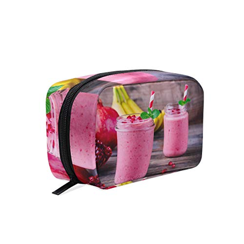 (Cosmetic Makeup Bag Pouch Drink Fruit Pomegranate Smoothie Clutch)