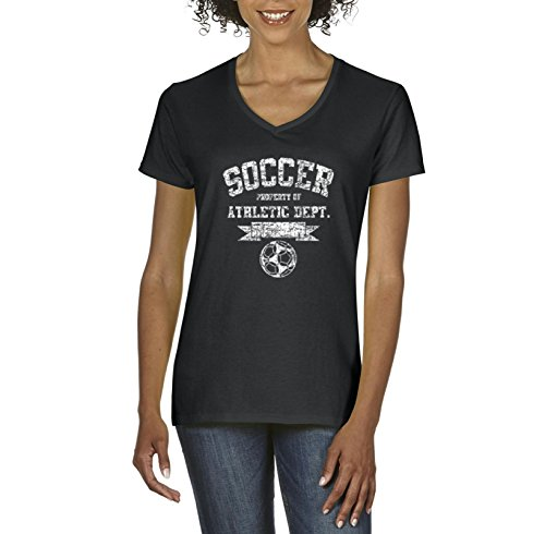 fan products of Soccer T-Shirt Soccer Athletic Dept. Sports Team Games Fans Womens Shirts V-Neck