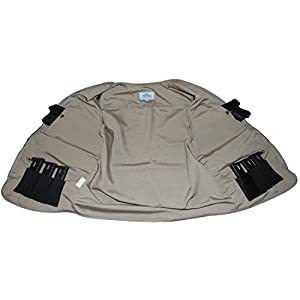 BLUE STONE SAFETY Concealment Vest Concealed Carry Vest Travel Vest Hiking Fishing Outdoor Sportsman Vest Outerwear (Tan, 2XL)