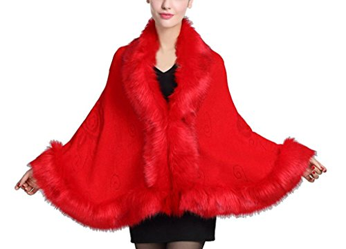 BEAUTELICATE - Poncho - para mujer Rosso