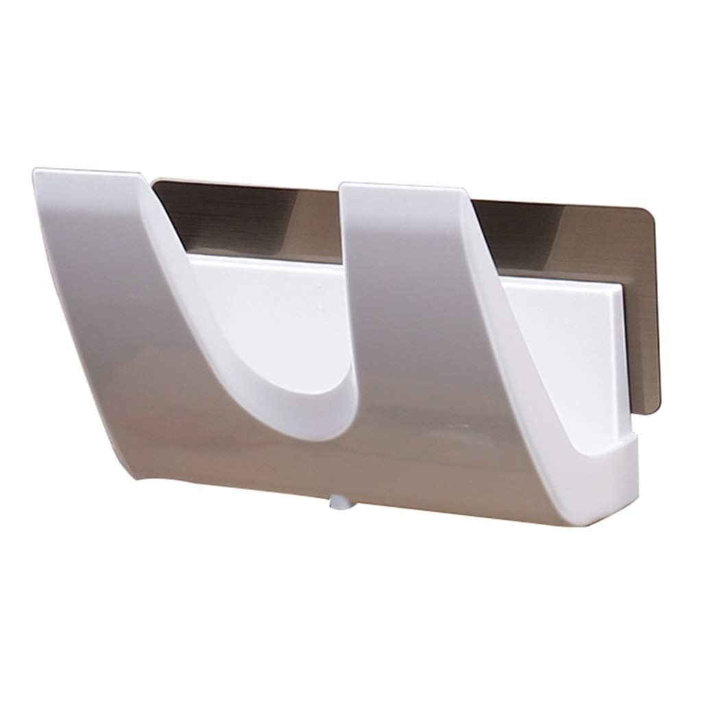 YHY Cover Organizer Wall-mounted Punch-free Lid Organizer Kitchen Storage Lid Rack (Color : WHITE, Size : 21.87.55CM) by YHY