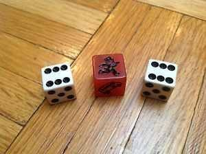 Monopoly Red Speed Die Set (3 Pieces) by Hasbro (Monopoly Set)