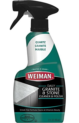 - Weiman Granite Cleaner and Polish - 12 Fluid Ounce - Enhances Natural Color in Granite Quartz Marble Soap Stone and More