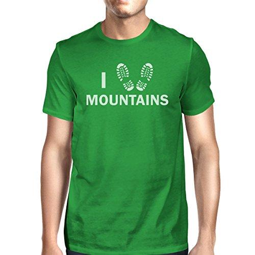 de manga corta una Printing Heart Mountains Camiseta para de 365 pieza Green hombre I pxtwEfqAw