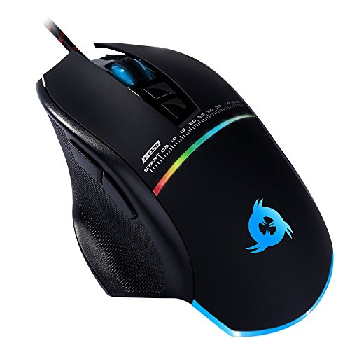 ⭐KLIM Skill Gaming Mouse – High Precision USB Computer – Adjustable up to 4000 DPI Gamer Wired Mice for PC, PS4 & Laptop – Programmable Buttons – Ergonomic & Light – Grip for All Hand Types – Black