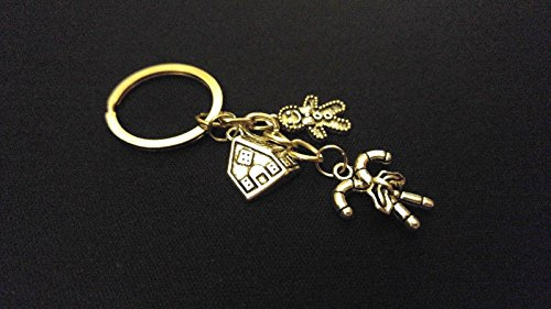 GINGERBREAD HOUSE CANDY CANES Silver Metal Charm Keychain Key Ring Unique Gift