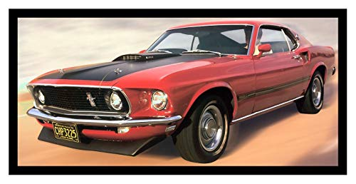 (Iron Ons 8 x 10 Photo 1969 Ford Mustang Mach 1 Vintage Old Advertising Campaign Ads)