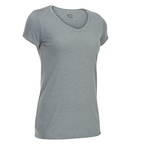 - Eastern Mountain Sports EMS Women's Techwick Vital V-Neck Short-Sleeve Tee Neutral Grey HTR M