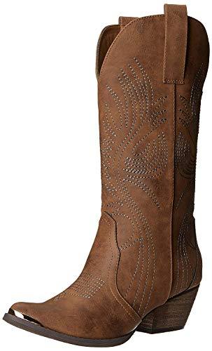 Very Volatile Women's Railroad Western Boot, Tan, 7.5 B US
