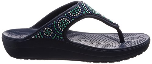 Flip Women's turquoise Embellished Size 5 Beaded Sandal turquoise 5 Navy Sloane Navy navy Crocs qt6yTHt